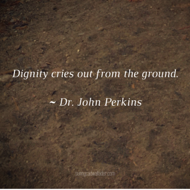 Dignity cries out from the ground.~ Dr. John Perkins